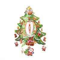 XMAS Gift 1pc Mini Table XMAS Trees Decoration Three Dimensional Wood Christmas Tree With Ornament For