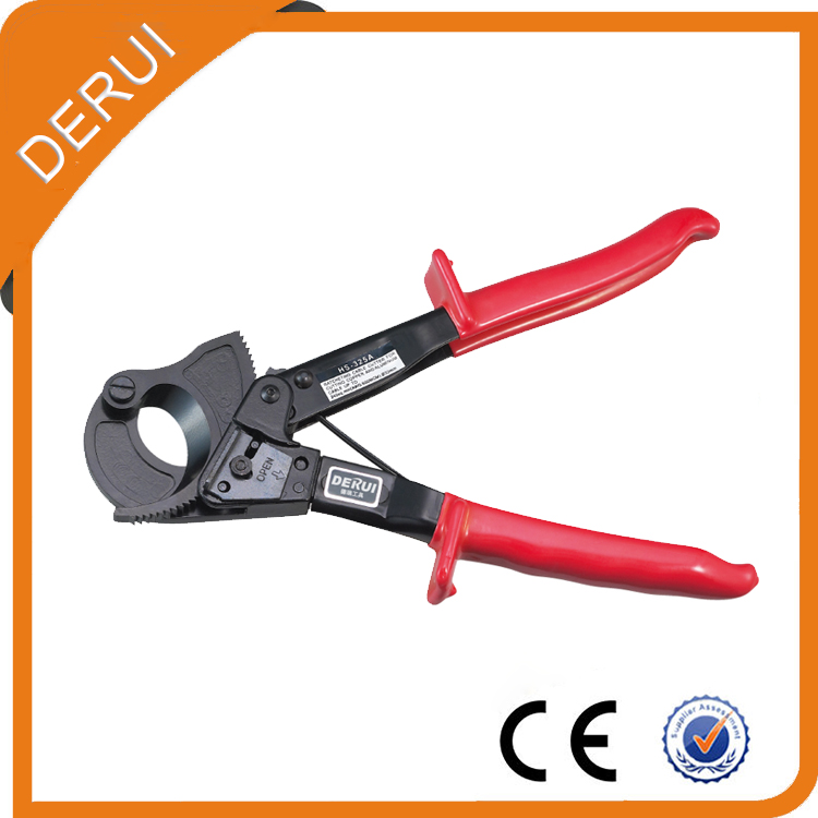 Pince de coupe de câble de cliquet de main de HS-325A 240mm, pince de coupe de fil de cliquet, outil à main, pince à main