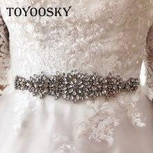 Rhinestone Wedding Women Belt Bridesmaid Dress Pearl Crystal Handmade Bridal Sash For Gowns