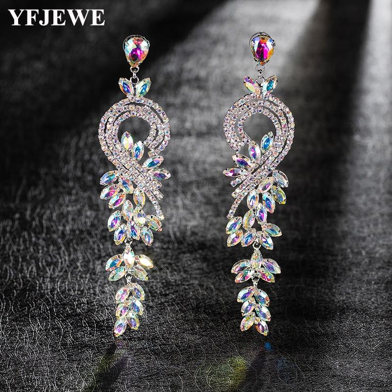 YFJEWE 2018 Latest Chic Multicolor Crystal  Dangle Earrings Party Drop Earrings for Women Fashion Jewelry E522YFJEWE 2018 Latest Chic Multicolor Crystal  Dangle Earrings Party Drop Earrings for Women Fashion Jewelry E522