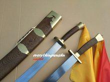Double épée en acier damas, Tai Chi, Wushu, cygne, Tai Chi