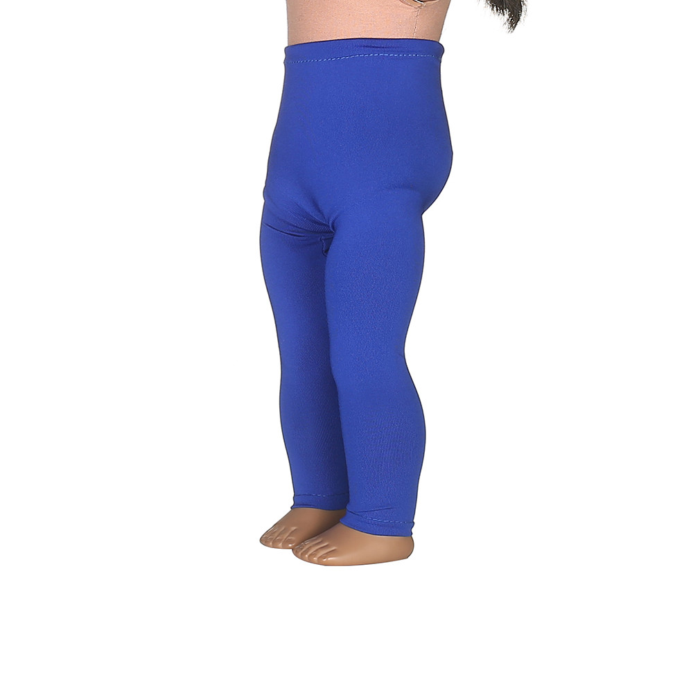 2 color Blue Leggings Tight Pants Fit 18 Inches American Girl Doll Baby Doll Clothes Accessories Handmade Fashion Pants Clothes