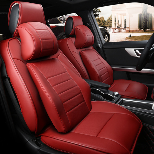 Custom The Genuine Leather Car Seat Covers Set For VOLKSWAGEN Passat Sagitar MAGOTAN Tiguan Golf