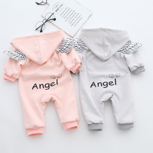 2961c9fc3f7f Baby boys Girl Rompers Spring Angel Newborn Baby Clothes For 0 12M ...
