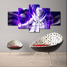 Hot Sell 5 Pcs Modern Home Decoration Naruto Anime Painting On Canvas Room HD Print Poster Picture Framed