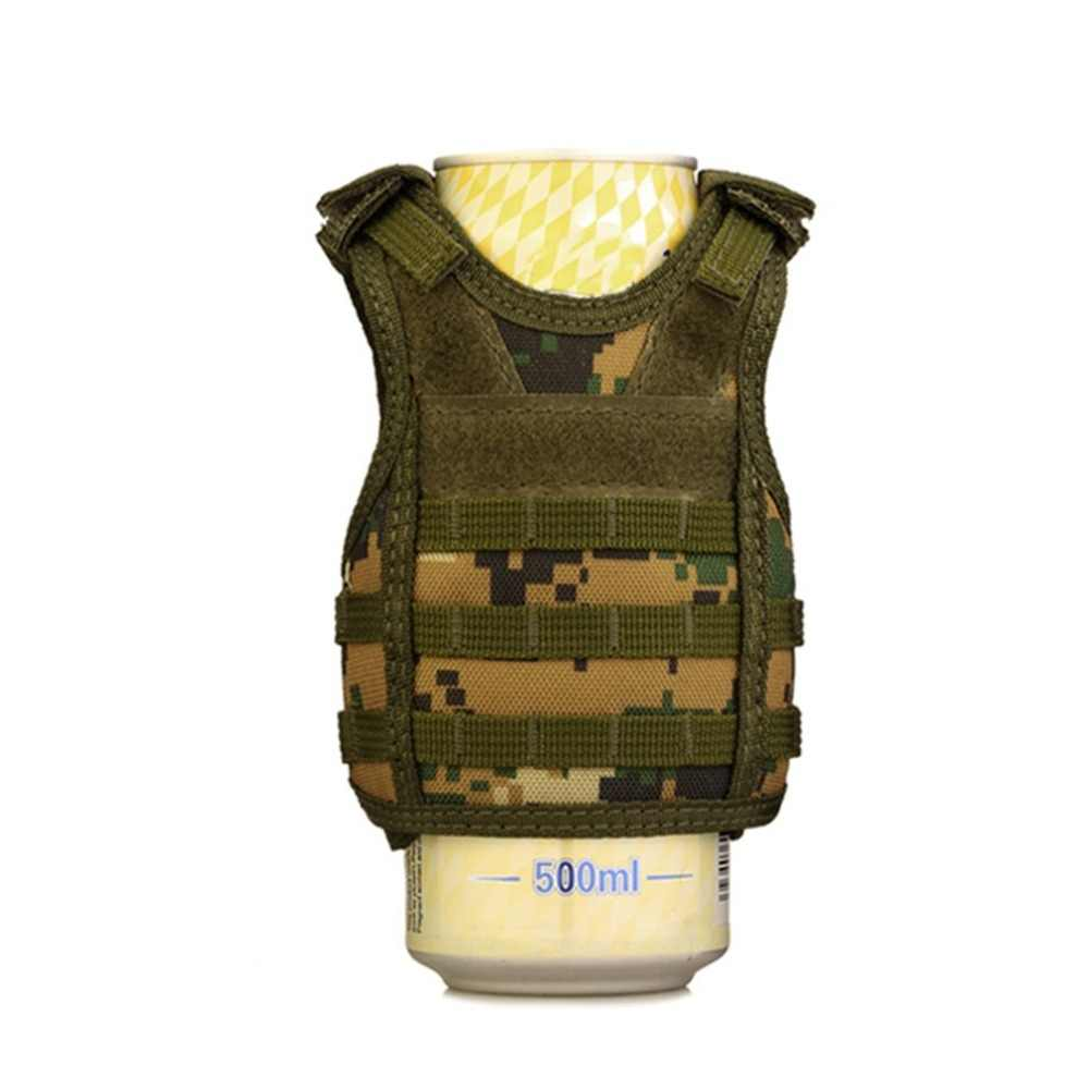 Тактический жилет Слои военные крышки бутылки пива охладитель напитков Мини Молл жилет регулируемые плечевые ремни для бутылки могут