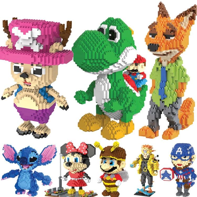 HC Magic Blocks Big size Yoshi Mini Blocks T Micro blocks Anime DIY Building Toys Juguetes Auction Model toy Kids Gifts 9020 dinosaur world jurassic park scene play mat kids