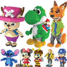 HC Magia Blocos Yoshi Mini Blocos de tamanho Grande T Micro blocos Anime Brinquedos Juguetes brinquedo Modelo de Leilão de Construção DIY Crianças Presentes 9020
