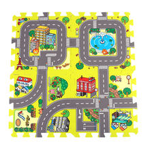 9pcs 30*30cm Baby Play Mat EVA Foam Puzzle Play Floor Pad No Edge Play Mat Soft Foam Puzzle Mat Baby Split Joint Indoor(China)