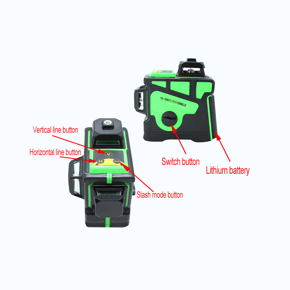 Big Strong 3D 12 Green Lines Laser Level Thick Lines Self-Leveling 360 Horizontal And Vertical Cross Super Powerful Laser Beam