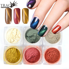 New 6 Colors 3D Cat Eye Magic Glitter Pigment Nail Art Glitter Powder Dust for UV Gel Polish Mirror Shiny Magnetic Effect TR305