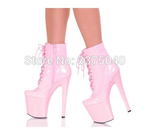Ravryy Sexy 20cm thin high heels nightclub dancing boots with lace up cross strap platform shoes women zippers booties sexy high heels shoes multicolor nightclub 20cm high with thin catwalk show with waterproof sandals size 35 44