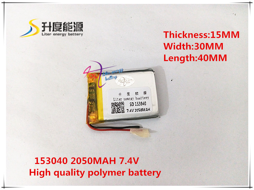 7.4 V 2050 Mah 153040 Polymer Lithium Ion/li-ion Batterij Voor Smart Horloge Gps Mp3 Mp4 Mp5 Speaker