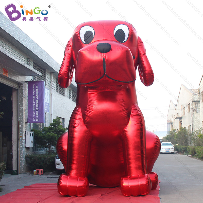 Festival red-golden 16.4ft high inflatable dog decoration / inflatable balloon dog /giant inflatable dog for display toys mascot giant christmas inflatable 5m high inflatable christmas santa claus cartoon for outdoor party events festival toy
