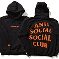 Hot  2017 Brand 1:1 Anti Social SocialClub Hoodie Men Paranoid Anti Social Club Undefeated Women Hoodies And Sweatshirts ASSC Pu