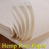 Топ Китайский конопли бумаги Hand Made традиционные рисовая бумага для живописи каллиграфии Исполнитель Поставки