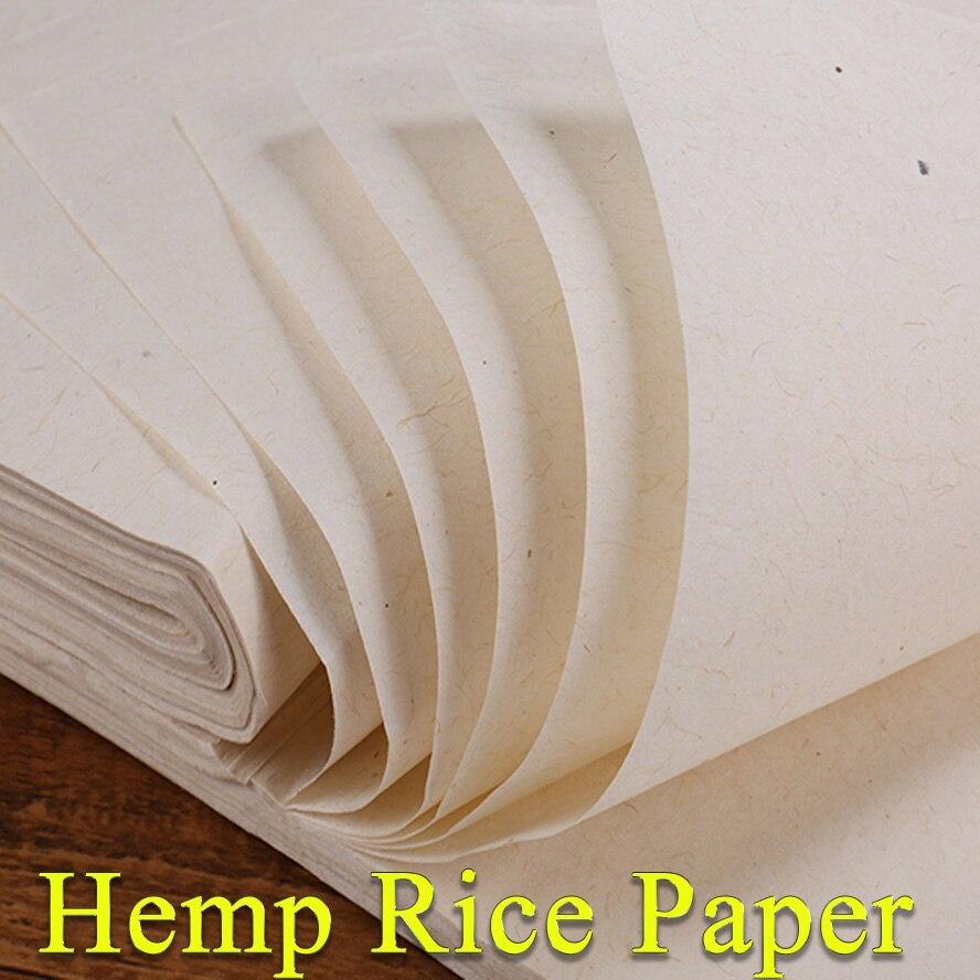 Лучшая китайская пеньковая бумага ручной работы, традиционная рисовая бумага для рисования каллиграфии, товары для художников