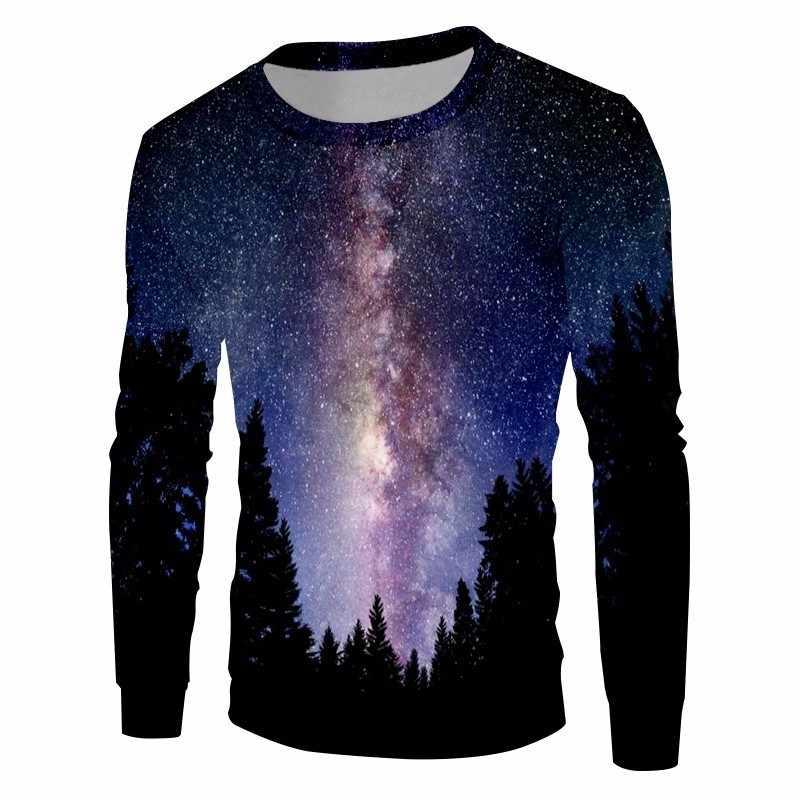 OGKB для мужчин/wo Мужчин's 3D Толстовка принт Nightfall пространство толстовки человек хип хоп Crewneck пуловеры для женщин джемпер с длинными рукавам