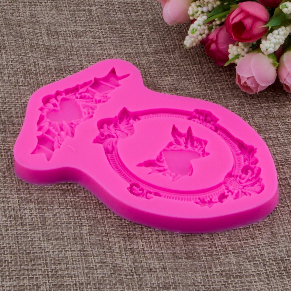 Photo frame Shape Fondant cake silicone mould Kitchen for pastry candy Gum paste Chocolate Trim molding removal tool set FT-0919