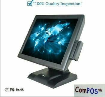 Free shipping touch screen Commercial pos terminal restaurant cash register all in one pc with card reader with copy windows
