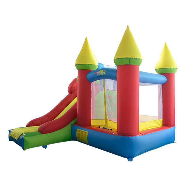 Residential bounce house bouncy castle combo slide inflatable bouncer for kids
