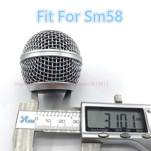 Image 4 - 6 יח\חבילה מקצועי ReplacementMicrophone סורג כדור ראש רשת מתאים לshure sm58 sm58sk beta58 beta58a