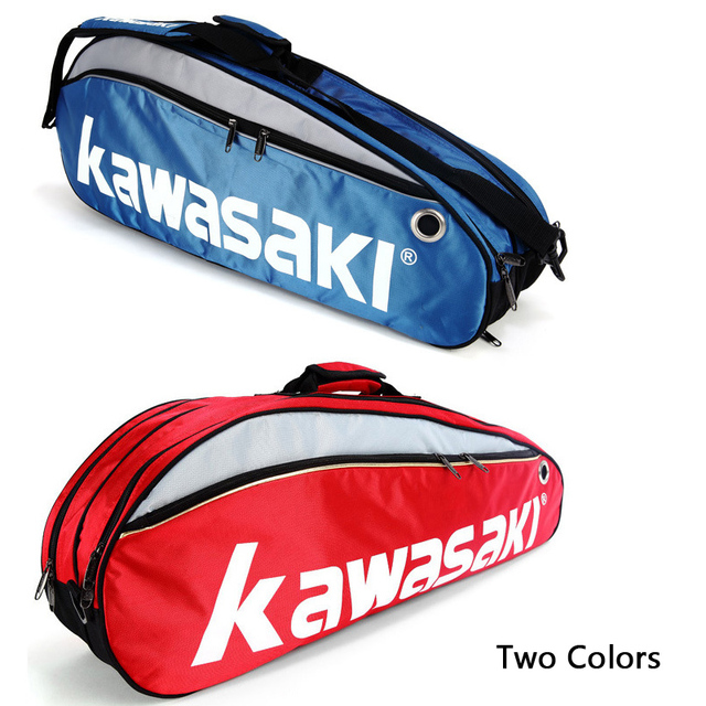 Large Capacity Medium Sport Accessory Kawasaki Single Shoulder Bag Tennis Badminton Squash 3 Rackets