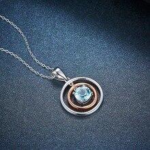 Strieborný náhrdelník MODRÝ TOPÁS Silver Pendant Necklace Sky Blue Topaz