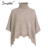 Simplee Turtleneck Knitting Winter Sweater Pullover Female Hollow Out Loose Chic Jumper Pull Femme Winter Warm
