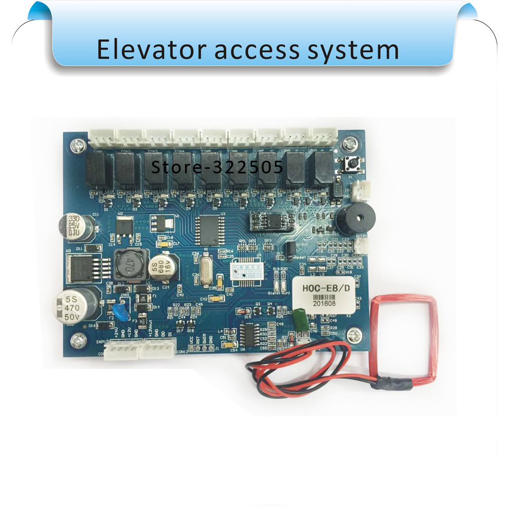 цена Free shipping 13.56MHZ lift / Elevator access control system set ,10000 user, No software elevator access system board