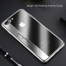 KISSCASE 3D Plating Frame Case For iPhone 6S 6 7 8 Plus Cover Ultra Thin Transparent Soft TPU Phone Shell For iPhone X 10 Cases(China)
