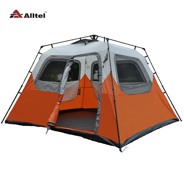 Alltel hot sale 5 6 8 person 1 layer 4 season automatic park BBQ family party hiking fishing beach outdoor camping tent alltel high quality double layer ultralarge 4 8person family party gardon beach camping tent gazebo sun shelter