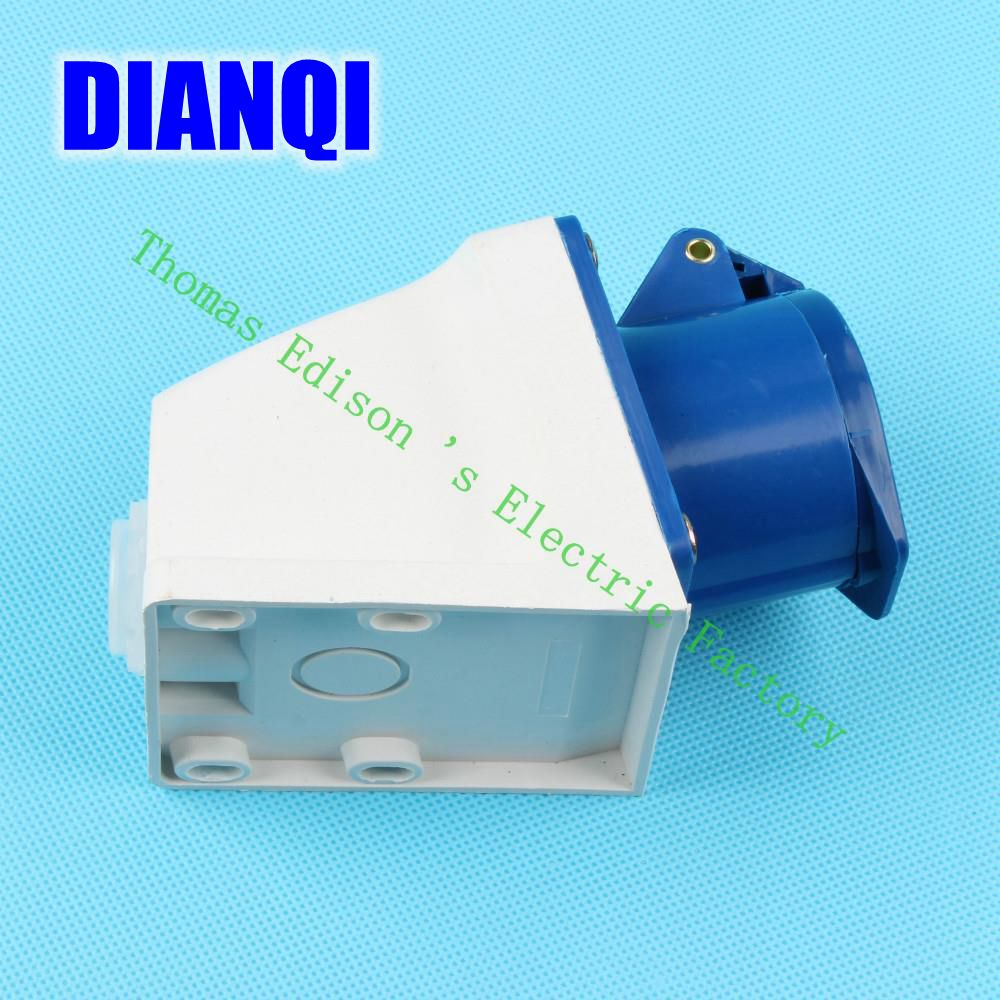 Industrial Socket Plug Coupler 113 CNQD-113 Blue 16A 220V~415V 2P+E 3pin 60PCS/carton high quality ac 360 415v 16a ie 0140 4p e free hanging industrial plug red white