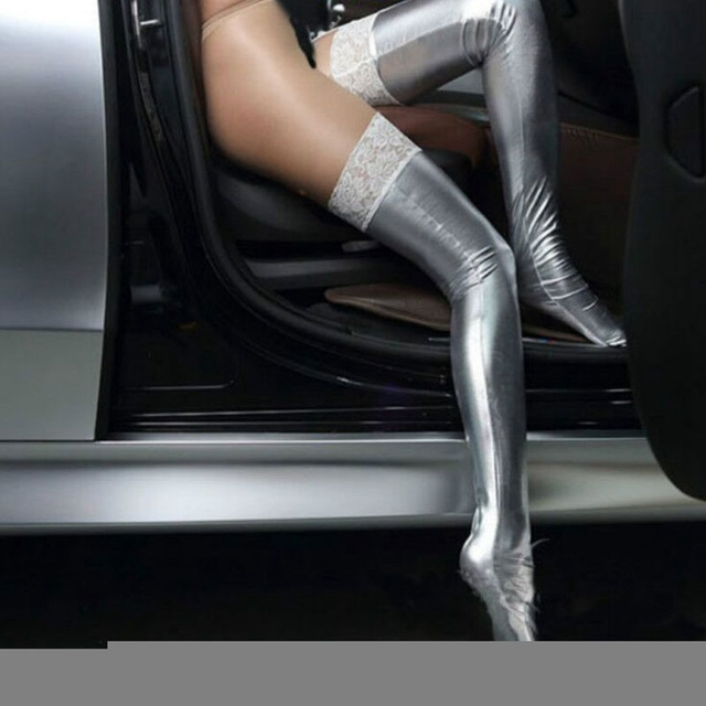Lace Latex Stockings  1