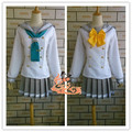 Anime Love Live! Sunshine!! Aqours Cute Sailor Suit Cosplay Costum Summer School Uniform Lolita Gilr Dress