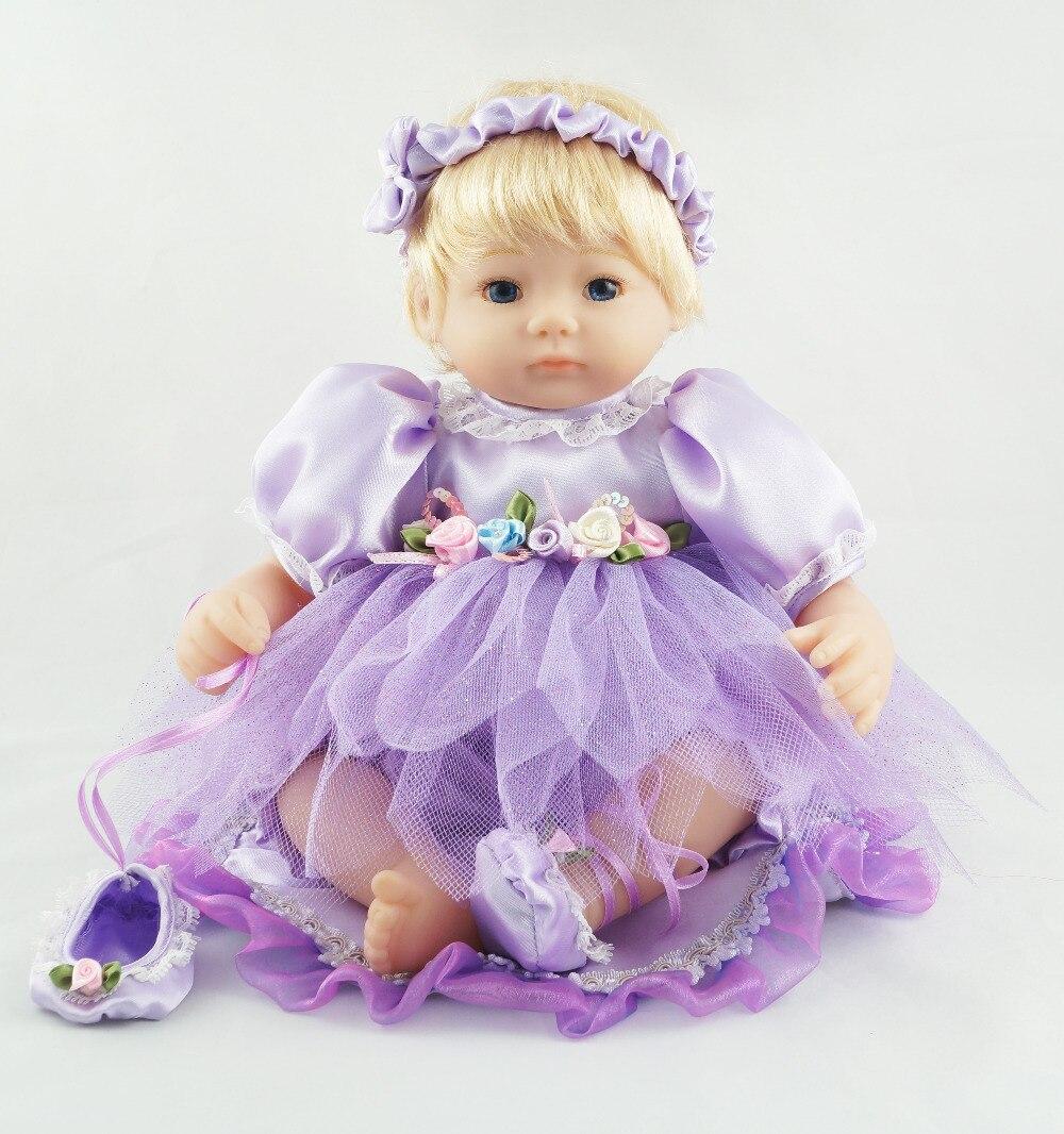 코 튼 40CM 아기 인형 자주색 발레 소녀 사랑스러운 드레스 어린이 쿠션에 대 한 귀여운 선물 장난감