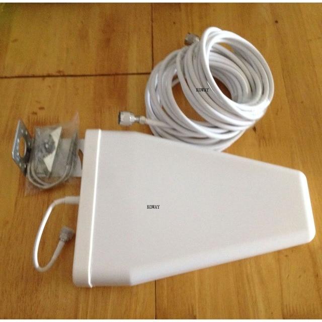 800-2500 Mhz 10dBi direccional LDPA LTE Antena exterior CABLE de 10 METROS PARA 3 GGSM DCSCDMA señal DEL TELÉFONO CELULAR REPETIDOR de refuerzo