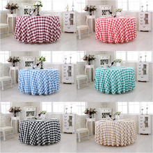 Hot Sale Tartan Plaid Cloth Garden Picnic Red check Tablecloths Hotel  Home For Kitchen