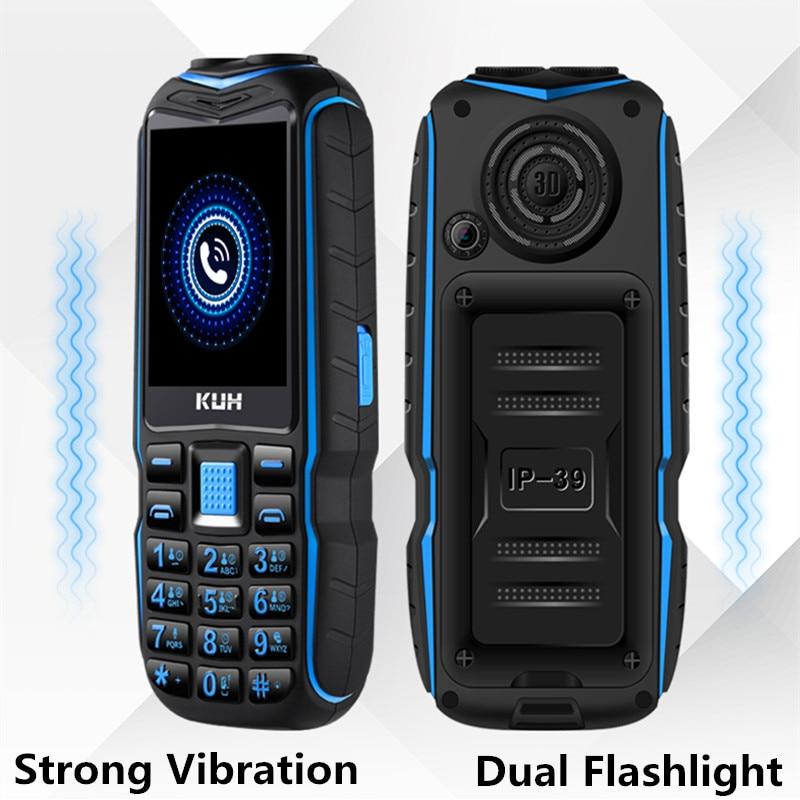 Original KUH T3 Dual Sim Cards Rugged Mobile Phone Dual Flashlight 13800mAh Long Standby Power Bank