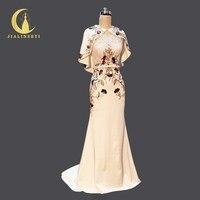 Jialinzeyi реальное изображение два набора Русалка пятно с роскошной Бусины новая распродажа Пром торжественное платье вечернее платье