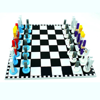 Children Gift Wooden International Chess European American Style Cartoon Modeling Puzzle Chess Toys Funny Antistress Kids