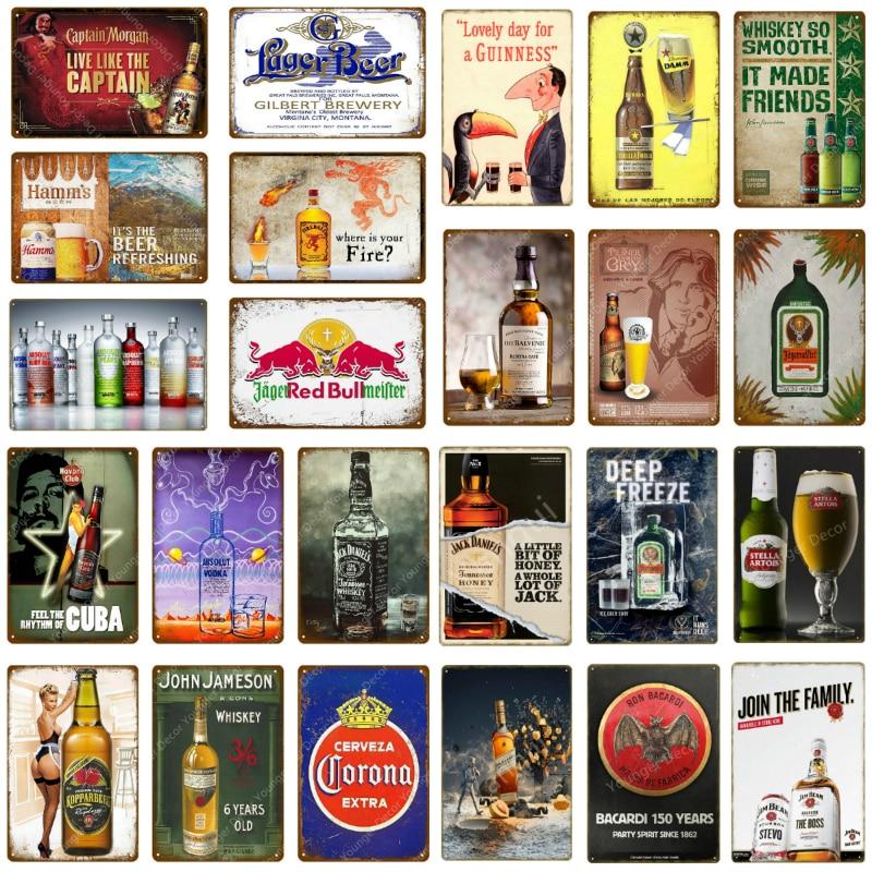 Metal Tin Sign damm cerveza  Decor Bar Pub Home Vintage Retro Poster Cafe ART