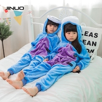 Baby Boys Girls Pajamas Autumn Winter Donkey Cosplay Costumes Children Flannel Funny Animal Blue Toilet Siamese