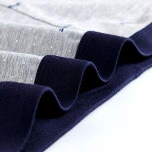 Image 5 - Artı boyutu 9XL erkek iç çamaşırı 5 adet/grup erkek Boxer iç çamaşırı şort pamuk Cuecas Boxer erkekler katı külot erkek Boxer
