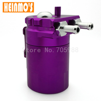 New Universal Black Baffled Aluminum Oil Catch Tank Can Reservoir Tank With Fittings Black Red Blue