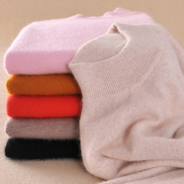 2016 Suéteres de Cashmere de Alta Qualidade Moda Feminina Outono Inverno Feminino Quente Macio e Confortável Fino Cashmere Pullovers