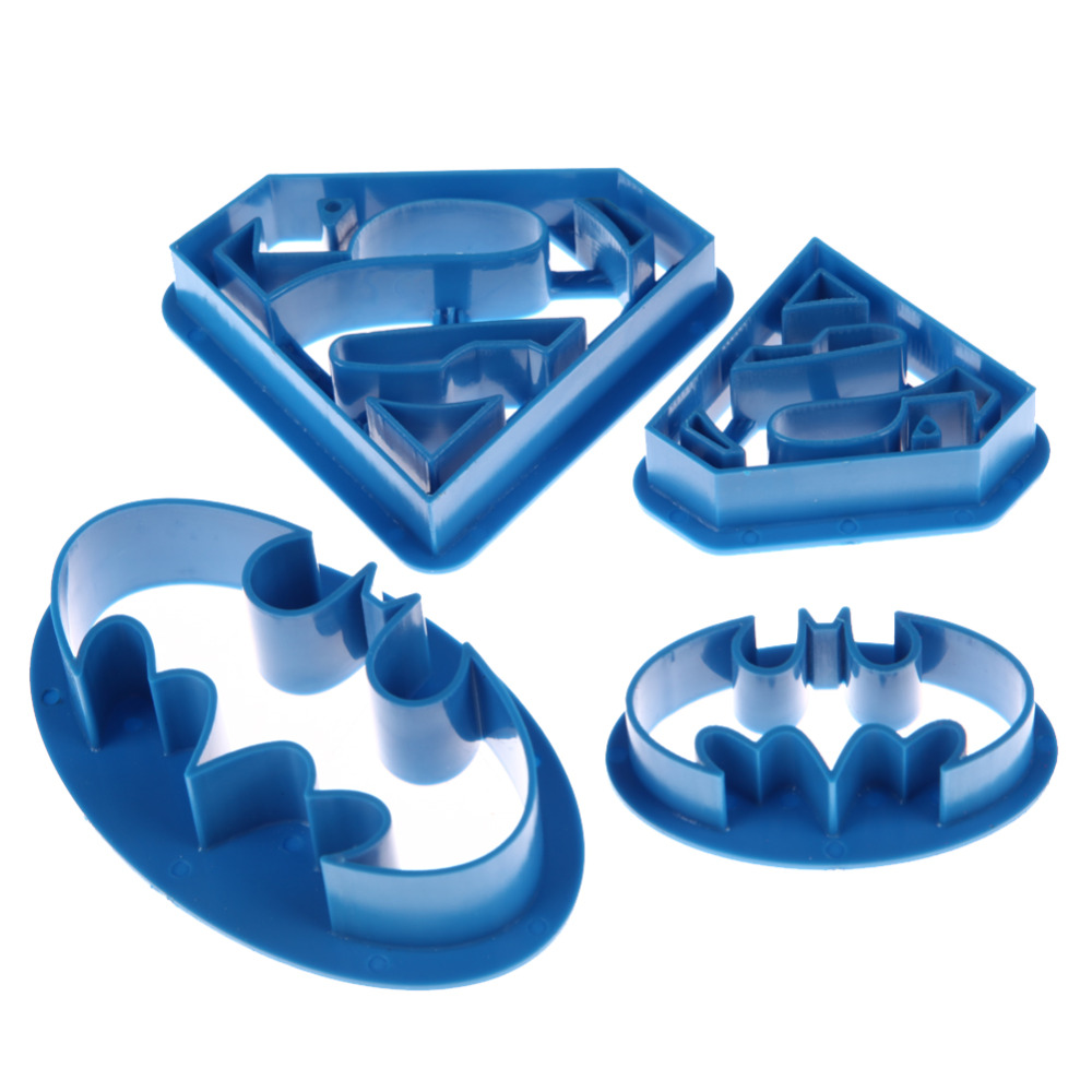 ANGRLY Bakeware Fondant Cookie Pastry Cutters Batman Superman Baking Cooking Confectionery Tools for Cake Decorating Cake Slicer in Baking Pastry Tools from Home Garden