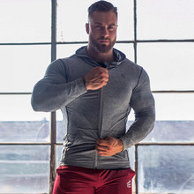 2019 New Spring Men Sport Jacket Long Sleeve Hoodies Male Running Jogging Leisure Fitness Gym Workout Sweatshirts