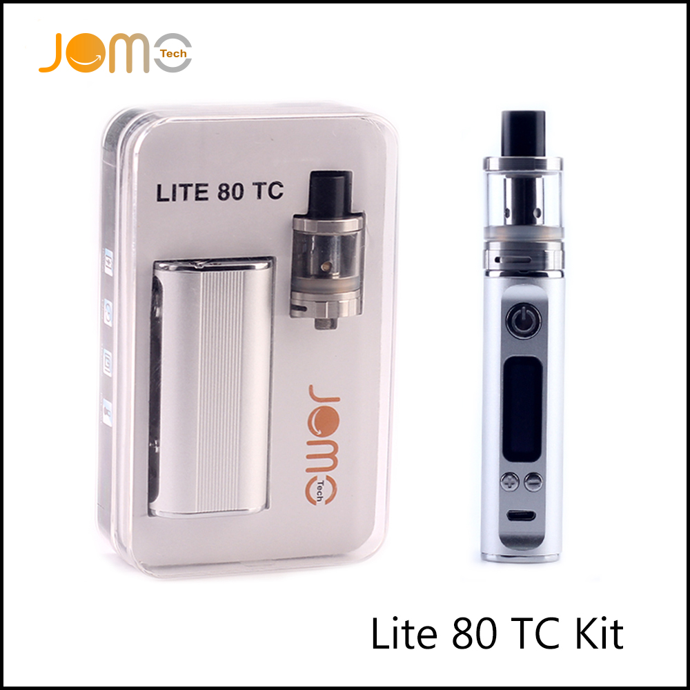 RU Stock! JomoTech 2600mAh 80w TC Vape Mod Jomo Lite 80 Electronic Cigarette Kit VW 5-80w E Cig Box Mod With 2.0ml Tank Jomo-130
