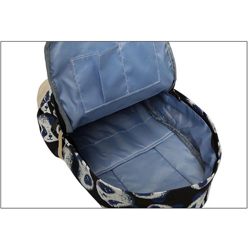 447b042b98d0 Aliexpress.com : Buy Cartoon Backpack Set Children School Bag for Teenager  Girls Panda Print Canvas Backpacks 2018 Graffiti Schoolbags Backpack W709Z  ...